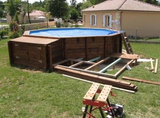 Бассейн из подручных материалов своими руками - покрышки, ванны, бетонного кольца