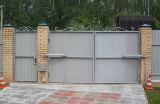 Распашные ворота своими руками - схема, изготовление и монтаж, установка автоматики