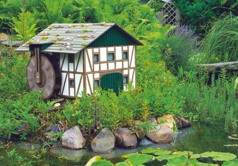 Водяная мельница на даче. Как сделать водяную мельницу